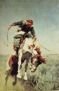 William Herbert Dunton Bronc Rider oil painting artist