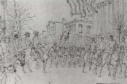 William Waud Sherman Reviewing His Army on Bay Street,Savannah,January oil painting artist