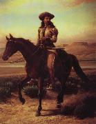 William de la Montagne Cary Buffalo Bill on Charlie oil painting picture wholesale