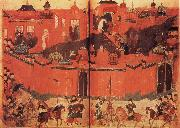 unknow artist The Mongolen Sturmen and conquer Baghdad in 1258 oil painting picture wholesale