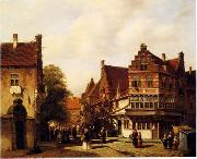 unknow artist European city landscape, street landsacpe, construction, frontstore, building and architecture.019 oil painting picture wholesale