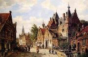 unknow artist European city landscape, street landsacpe, construction, frontstore, building and architecture.045 oil painting picture wholesale