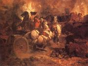 Blythe David Gilmour Battle of Gettysburg oil
