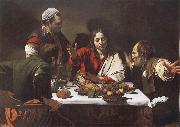 Caravaggio Supper of Aaimasi oil painting picture wholesale