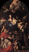 Carlo Maratti Madonna and Child Enthroned with Angels and Saints oil painting picture wholesale