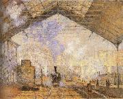 Claude Monet Railway station oil painting reproduction