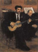 Edgar Degas Lorenzo Pagans Spanish Tenor,and Auguste ge gas,Father of the artist oil painting picture wholesale