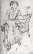 Edgar Degas Study of Helene Rouart sitting on the Arm of a Chair oil painting picture wholesale