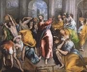 El Greco The Christ is driving businessman in the fane oil painting picture wholesale