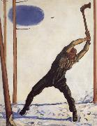 Ferdinand Hodler WOodcutter oil painting picture wholesale