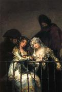 Francisco Goya Majas on a Balcony oil painting picture wholesale
