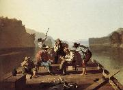 George Caleb Bingham Boater playing the Card oil painting picture wholesale
