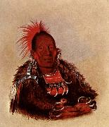 George Catlin Wah-ro-Nee-Sah,Oto Chief oil painting reproduction