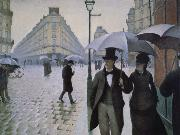 Gustave Caillebotte Rainy day in Paris oil painting picture wholesale