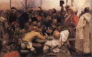 Ilya Repin The Zaporozhyz Cossachs Writting a Letter to the Turkish Sultan oil painting picture wholesale