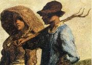 Jean Francois Millet Detail of People go to work oil painting picture wholesale