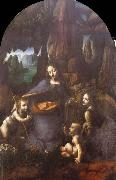 Leonardo  Da Vinci Madonna of the Rocks oil painting picture wholesale