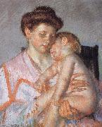 Mary Cassatt Sleeping deeply Child oil painting picture wholesale