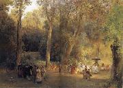 Oswald achenbach The park near the Roman oil painting artist