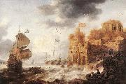 PEETERS, Bonaventura the Elder An Oriental Harbour oil