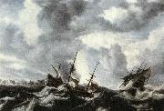 PEETERS, Bonaventura the Elder Storm on the Sea oil