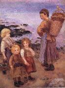 Pierre-Auguste Renoir Mussel Fishers at Berneval oil painting picture wholesale