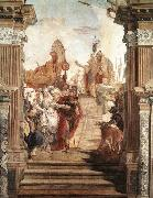 TIEPOLO, Giovanni Domenico The Meeting of Anthony and Cleopatra oil painting picture wholesale