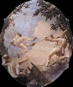 TIEPOLO, Giovanni Domenico The Swing of Pulcinella oil painting picture wholesale