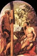Tintoretto St Jerome and St Andrew oil painting picture wholesale