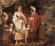 VERHAGHEN, Pieter Jozef Hagar and Ishmael Banished by Abraham oil painting picture wholesale