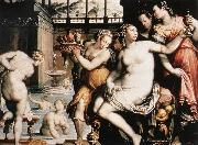 ZUCCHI  Jacopo The Toilet of Bathsheba after 1573 oil painting