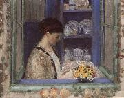 frederick carl frieseke Mis.Frederick in front of the window oil painting artist