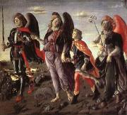 BOTTICINI, Francesco The Tree Archaangels and Tobias oil painting artist