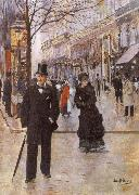 Beraud, Jean On the Boulevard oil