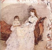 Berthe Morisot Ierma and her daughter oil painting picture wholesale