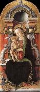 Carlo Crivelli Faith madonna with child, and the donor oil