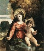 Dosso Dossi Madonna and Child oil