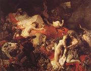 Eugene Delacroix Sardanapalus-dod oil painting picture wholesale