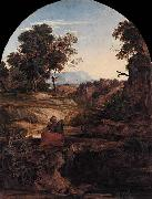 Ferdinand Olivier Elijah in the Wilderness oil