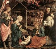 Fra Filippo Lippi Adoration of the Child with Saints oil painting picture wholesale