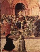 Fra Filippo Lippi Madonna and Child with Saints and a Worshipper oil painting picture wholesale