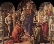 Fra Filippo Lippi Madonna and Child with St Fredianus and St Augustine oil painting picture wholesale