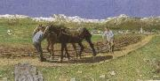 Giovanni Segantini Ploughing oil painting picture wholesale