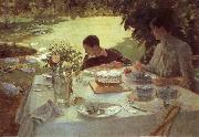 Giuseppe de nittis Breakfast in the Garden oil painting picture wholesale
