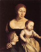 Hans Holbein Konstnarens with wife Katherine and Philipp oil painting picture wholesale