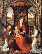 Hans Memling Madonna nad Child with Angels oil painting picture wholesale