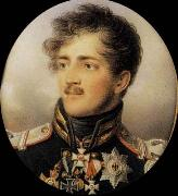 Jean Baptiste Isabey Prince August of Prussia oil