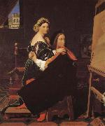 Jean-Auguste Dominique Ingres Lafier and Finalina oil painting picture wholesale