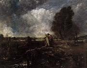 John Constable A Boat at the Sluice oil painting reproduction