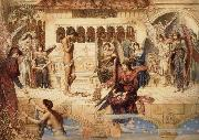 John Melhuish Strudwick The Ramparts of God-s House oil painting artist